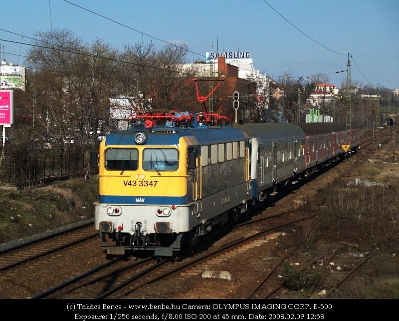 V43 3347 a Déli pályaudvar után fotó