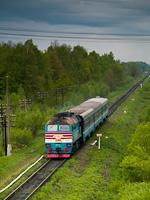 An unidentified UŽ DPL1 seen between Kolomiya and Ivano-Frankivsk near Dibrová stop