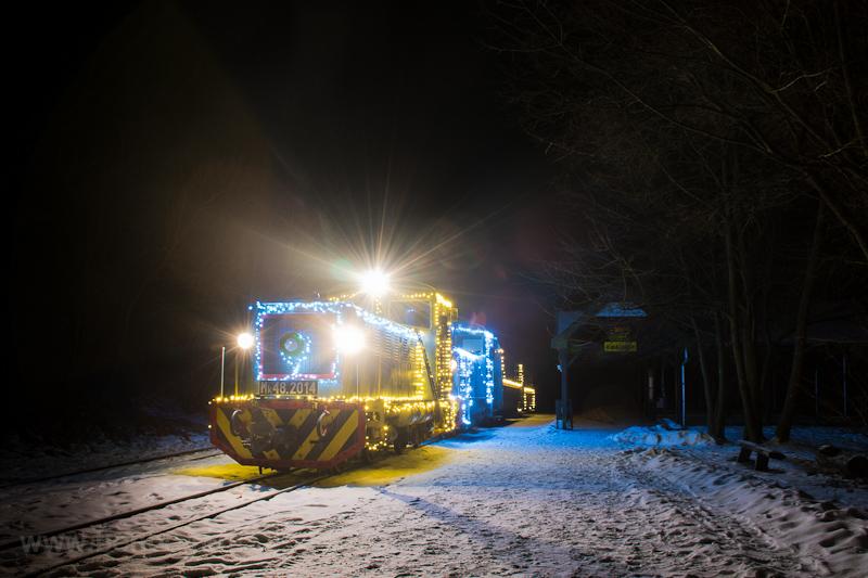 Fények Fotósvonata: A Királyréti Erdei Vasút Mk48 2014 Királyrét állomáson fotó