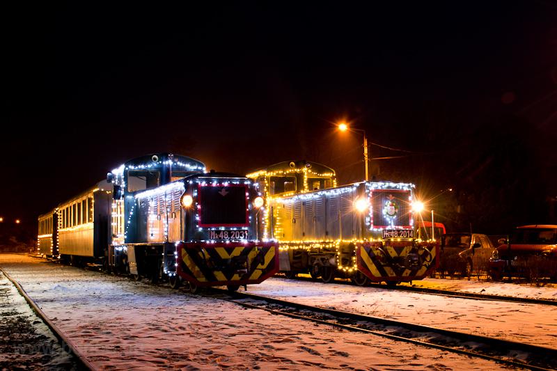 Fények Fotósvonata: A Királyréti Erdei Vasút Mk48 2031 és az Mk48 2014 Kismaros KEV állomáson fotó