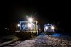 Fények Fotósvonata: A Királyréti Erdei Vasút Mk48 2031 a fotósvonattal és az Mk48 2014 a menetrend szerinti személyvonattal Hártókút állomáson