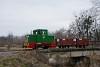 A MÁV-START C50 5713 Pálmajor és Somogyszentpál felső között lóré-vonattal a közös közúti-vasúti hídon