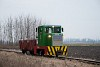 A MÁV-START balatonfenyvesi gazdasági vasút C50 5713 lóré-vonattal Somogyszentpál felső és Somogyszentpál között