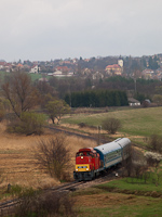 The MÁV-Trakció Zrt.'s 478 032 (ex-M47 2032) between Mátraderecske and Mátraballa