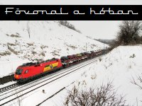 Main lines in the snow