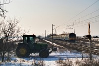 A tractor level crossing and BDt 330