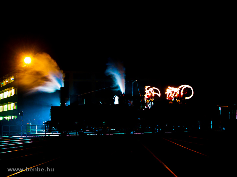 A 204-es gőzmozdony a Füsti fordítókorongján fotó