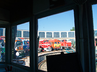 Locomotives seen from inside the Kandó