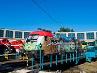 A GYSEV 1047 505-1-es  Széchenyi István -mozdony a fordítókorongon
