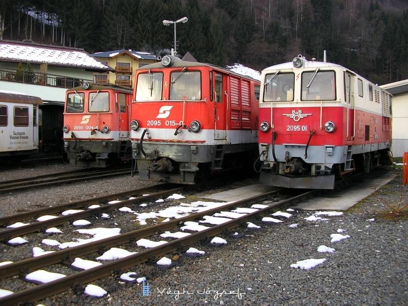 Az ÖBB Pinzgauer Lokalbahn mozdonyai Zell am See állomáson fotó