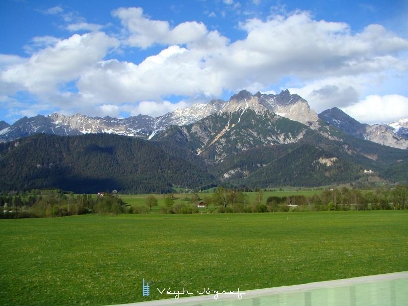 A kilátás sem utolsó ezen a vonalon, ez a kép Saalfelden közelében készült fotó