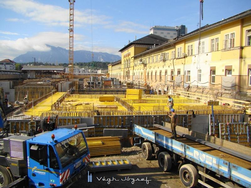 Az épülő salzburgi pályaudvar, egyben a Giselabahn végpontja fotó