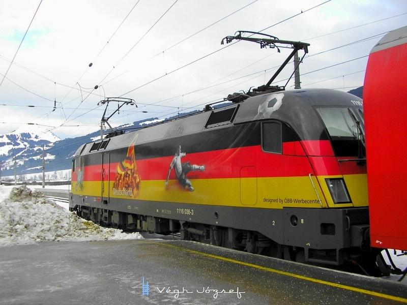 Az ÖBB 1116 036-3 Deutschland-Lok Kirchberg in Tirol állomáson fotó