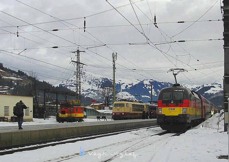 """Egy képen az X 534, a 1116 036-3 """"német"""" és egy másik német nevezetesség a 103 245-7. fotó"""