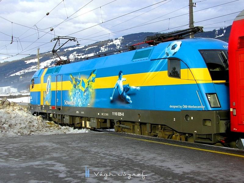 Az ÖBB 1116 029-8 Sweden-lok Kirchberg in Tirol állomáson fotó