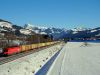 The �BB 1116 225-2 pulling a freight train near Kirchberg in Tirol