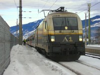 The ÖBB 1116 280-7 A1-Lok at Kirchberg in Tirol station