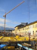 The raconstruction works at Salzburg main station, the starting point of the Giselabahn