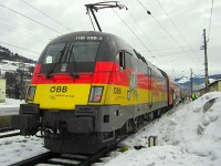 The ÖBB 1116 036-3 Deutschland-Lok at Kirchberg in Tirol station