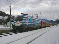 The BB 1116 007-4 Greichenland-Lok at Kirchberg in Tirol station