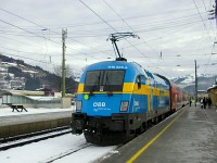 The ÖBB 1116 029-8 Sweden-lok at Kirchberg in Tirol station