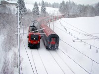 The ÖBB 1016 031-5 on the Giselabahn