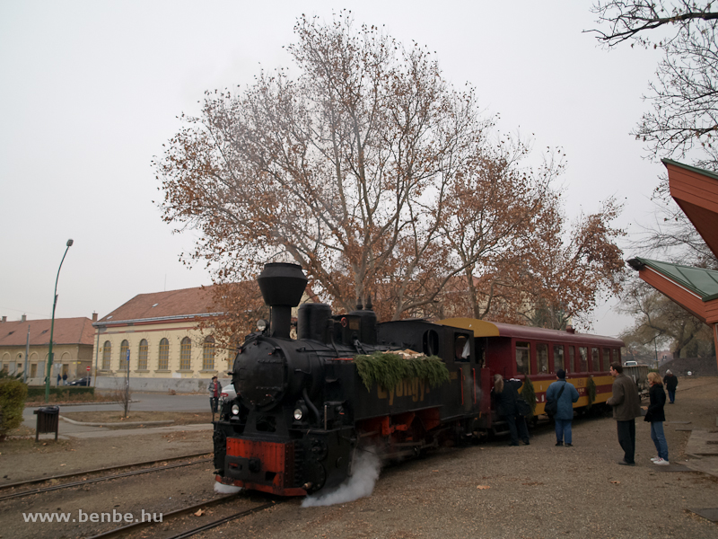 The Gyöngyi steam locomotive at Gyöngyös photo