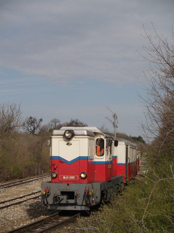 Az Mk45 2005 Széchenyi-hegy állomáson a Kisvasúti Napi különvonattal fotó