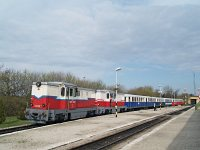 The Mk45 2006 and Mk45 2001 at Sz�chenyi-hegy during the Narrow-gauge Railway Day
