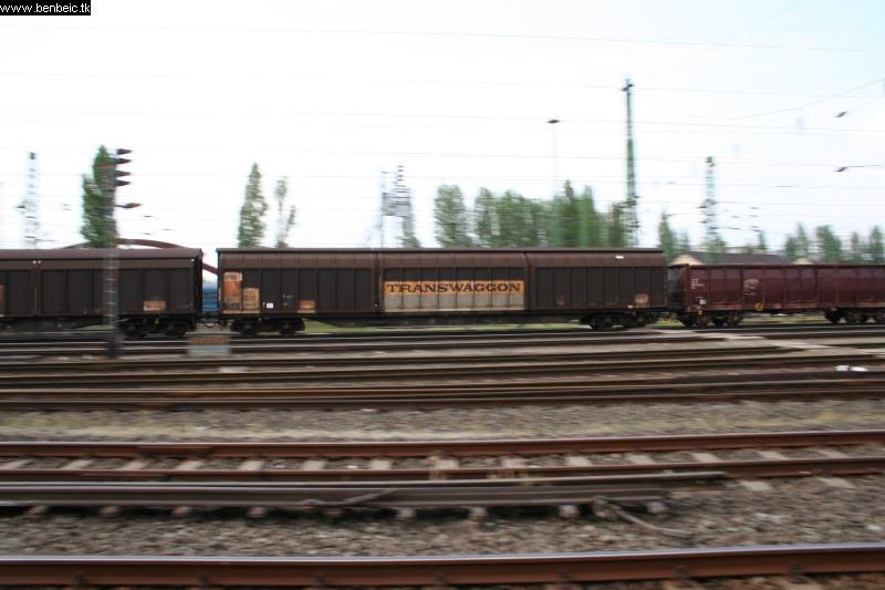 Egy bejáró tehervonat Ferencvárosban fotó