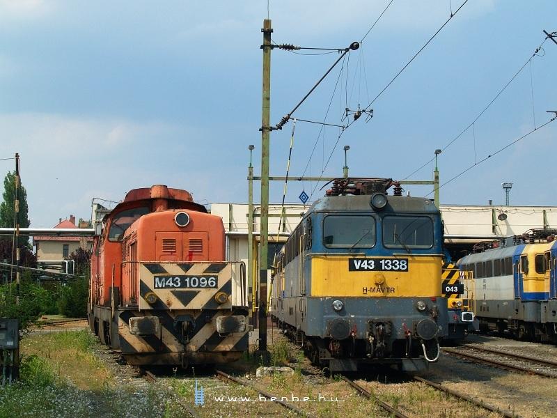 M43 1096 és V43 1338 a hatvani fűtőházban fotó