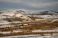A CFR Calatori 41 0055-4 Kolozskara (Cojocna, Románia) és Apahida között a Bukarestből Kolozsváron át Nagybányára közlekedő InterRegio vonat élén