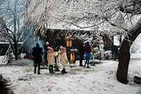 Karácsonyi hangulat a CFF Vişeu / Wassertalbahn / Felsővisói Erdei Vasút központjában