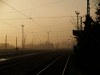 �buda station in the morning fog