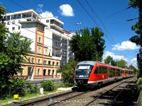 The 6342 012-9 in a modern urban scenery near Tímár utca