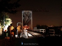 The Rába-Balaton railcar and the ghostly Újpest Railway Bridge