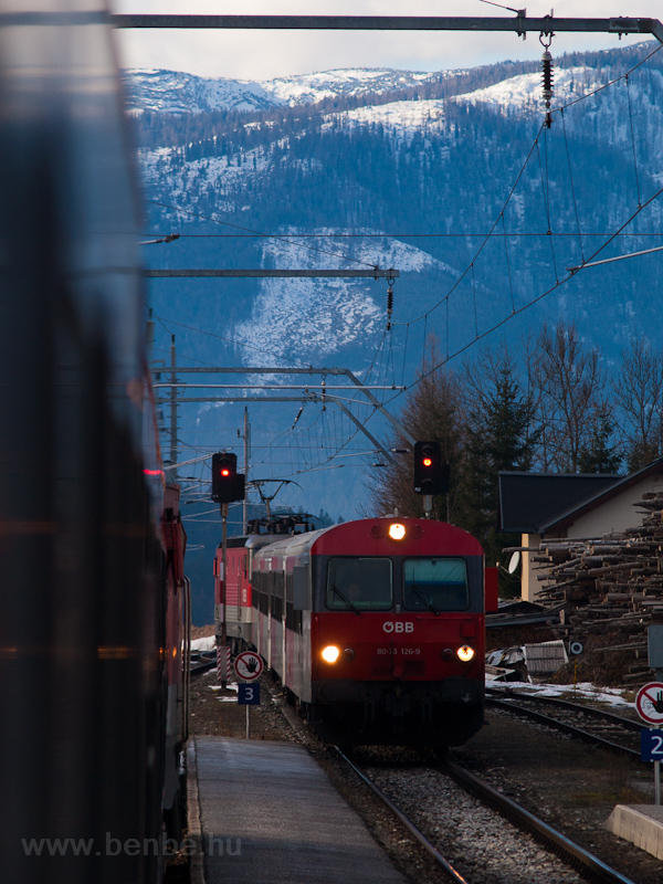 The ÖBB 80-73 126-9 seen at Bad Mitterndorf station photo