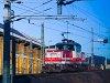 Az ÖBB 1163 001-9 pályaszámú, gyönyörű tolatómozdonya Salzburg Gnigl rendezőpályaudvaron
