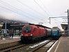 The ÖBB/S-Bahn Steiermark 4024 120-0 Talent and the ÖBB 1116 179 seen at Schladming