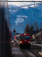 The ÖBB 80-73 126-9 seen at Bad Mitterndorf station