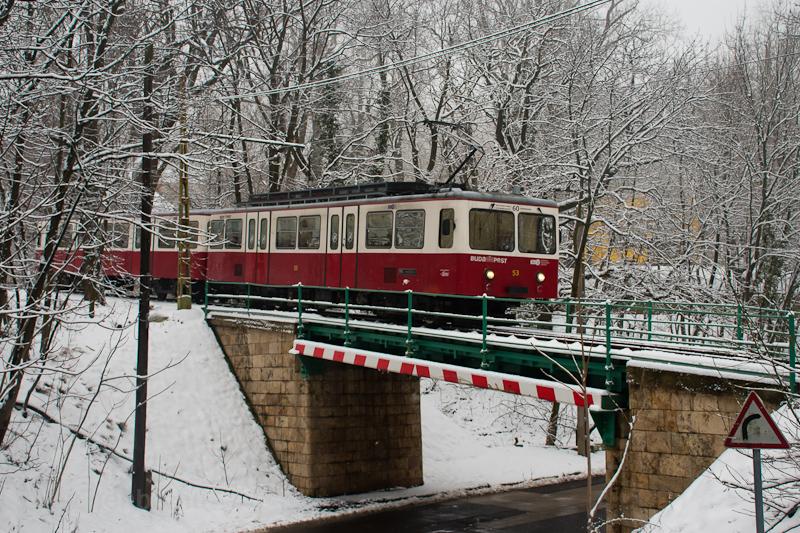 A Fogaskerekű Vasút (60-as villamos) SGP 53 Városkút és Adonis utca között fotó