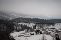 Személyvonat Fužine és Vrata között a viadukton