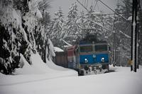 A HŽ 1 141 202 tehervonattal Lokve állomáson