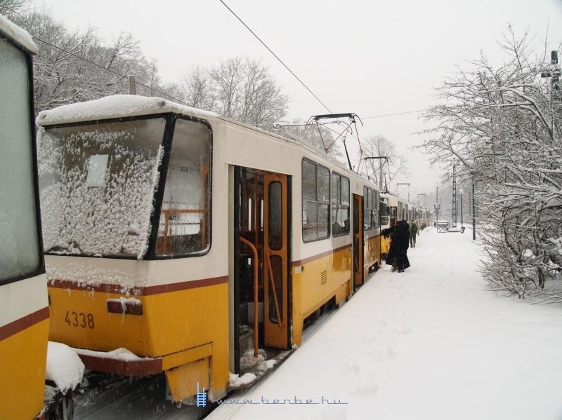 A 4338-as BKV T5C5K villamos a rég hûvösvölgyi végállomáson fotó
