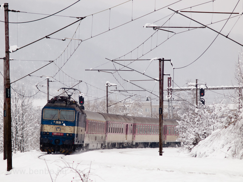 The ŽSSK 362 015-8 is leaving Margecany station with her fast train on its way to Košice photo