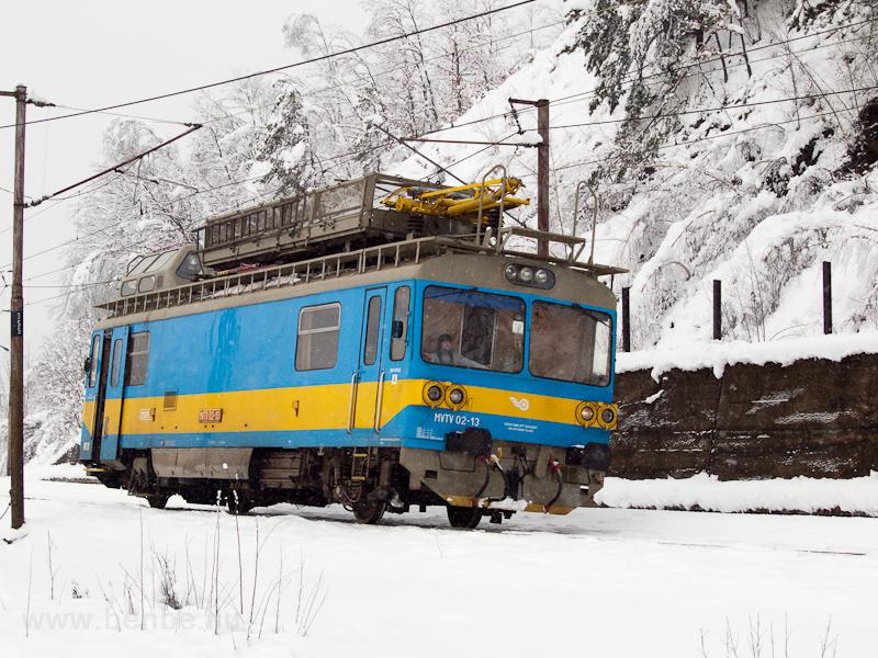 The ŽSR MVTV 02-13 seen leaving Margecany station photo