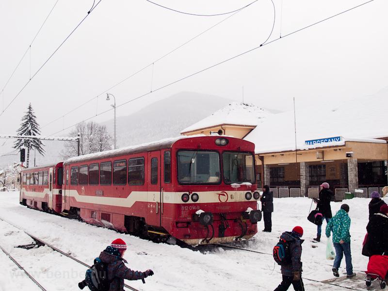 A ŽSSK 812 014-9 pályaszámú motorkocsija Margitfalván fotó