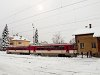 Let's go ahead with my photos taken on the second trip in snow: here you can see the ŽSSK 813 027-8 at Margitfalva (Margecany, Slovakia)