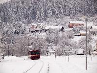 A ŽSSK 812 014-9 tér vissza Nalpkovóból, a kép Zakárfalván készült