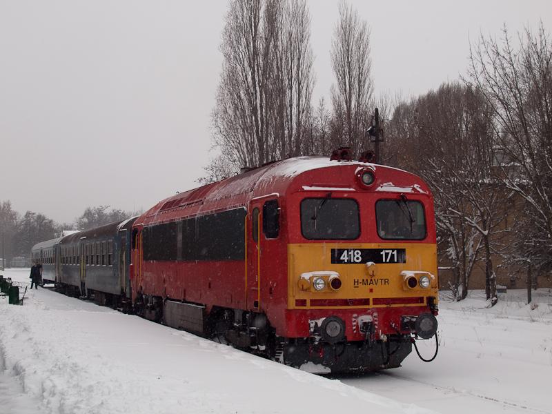 A MÁV-TR 418 171 Szeged-Rókuson fotó